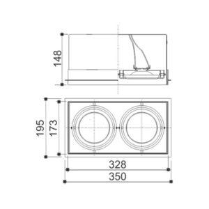 Mix No Frame Ar/Par 2 Focos