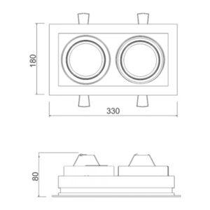 Multiplus AR111 2 Focos