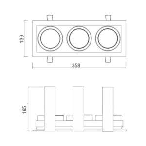Multiplus AR111 3 Focos