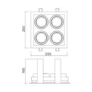 Multiplus AR111 4 Focos