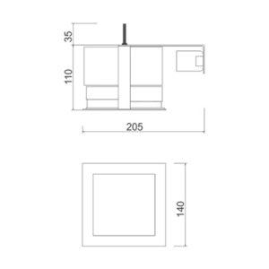 Multiplus Difuso - 1x23w/LED