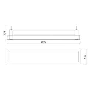 Multiplus Difuso - 2x14W/2x16W/LED
