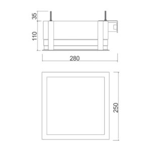 Multiplus Difuso - 2x23w/LED