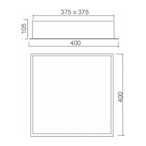 Multiplus Difuso - 4x23w/LED