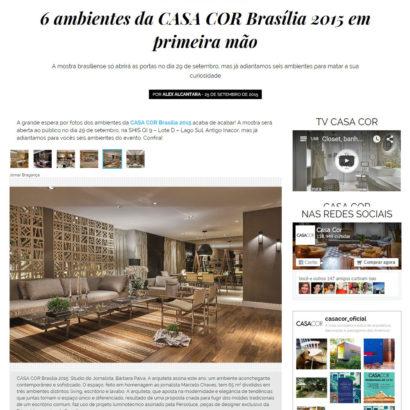 Site Casa Cor em Brasília